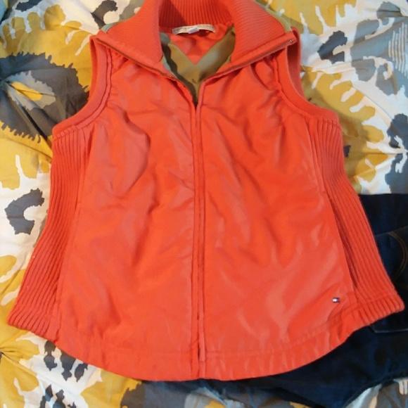 Tommy Hilfiger Jackets & Blazers - Tommy Hilfiger orange ribbed vest PetiteM